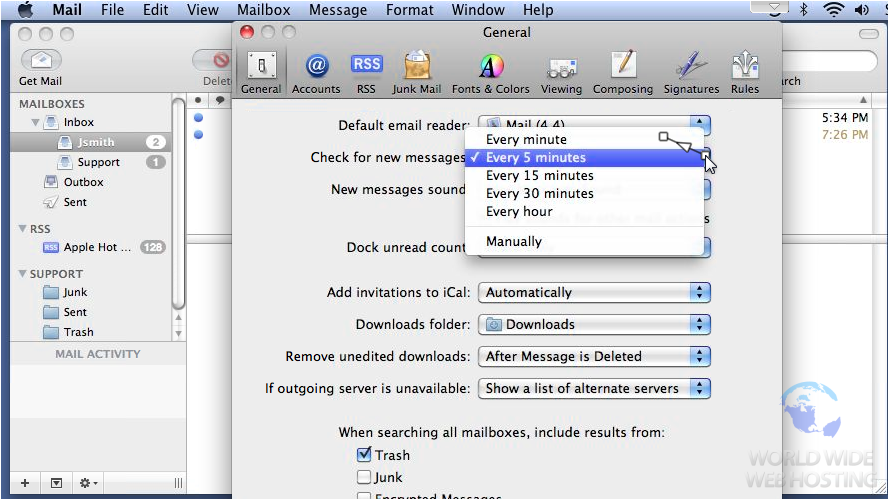 how to set up apple mail account macbook pro