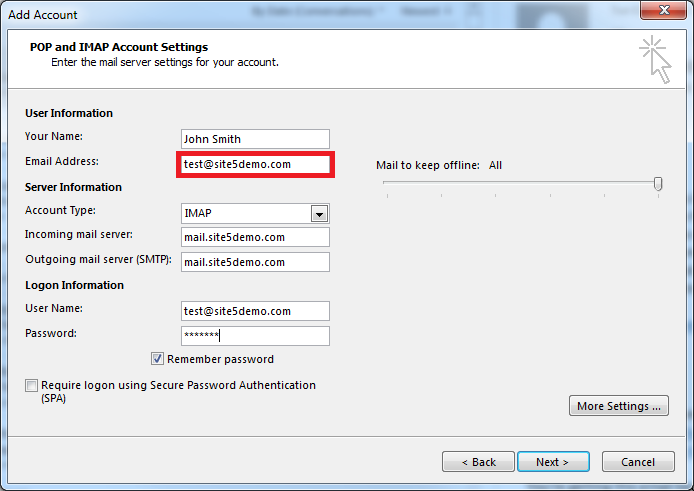 set up outlook email