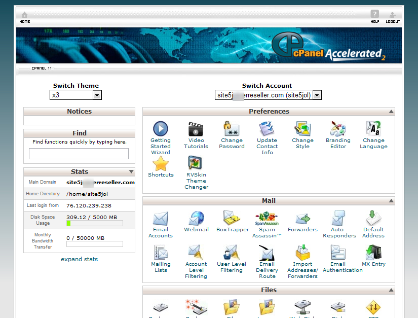 Site5 Knowledgebase 187 Cpanel Overview