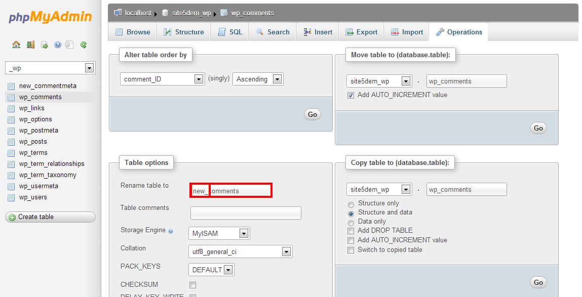 wordpress change table prefix 3