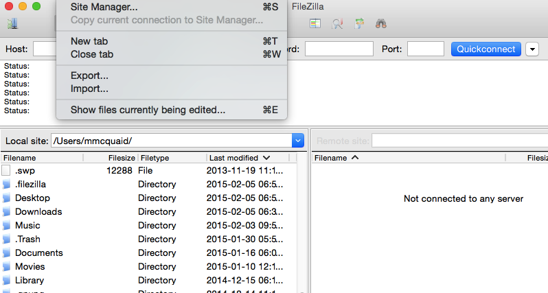 how to connect sftp in filezilla