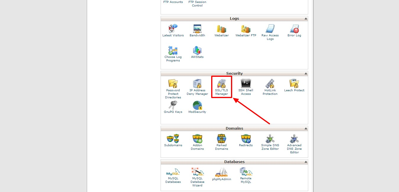 Site5 knowledgebase cpanel installing an ssl certificate cpanel ssltls option xflitez Image collections