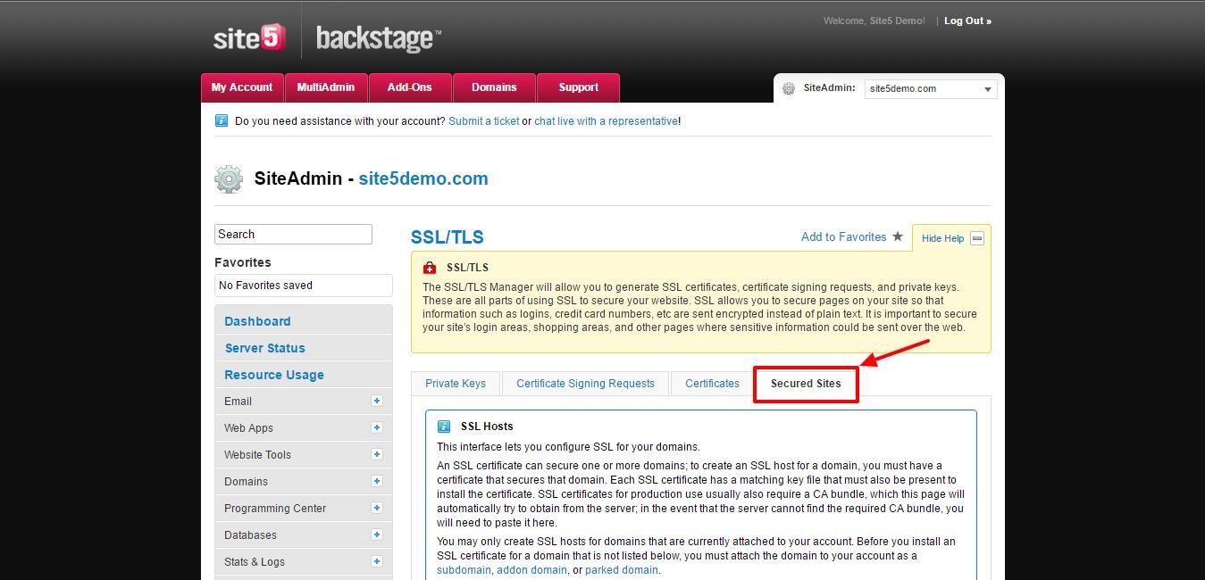 Site5 Knowledgebase Siteadmin Installing An Ssl Certificate