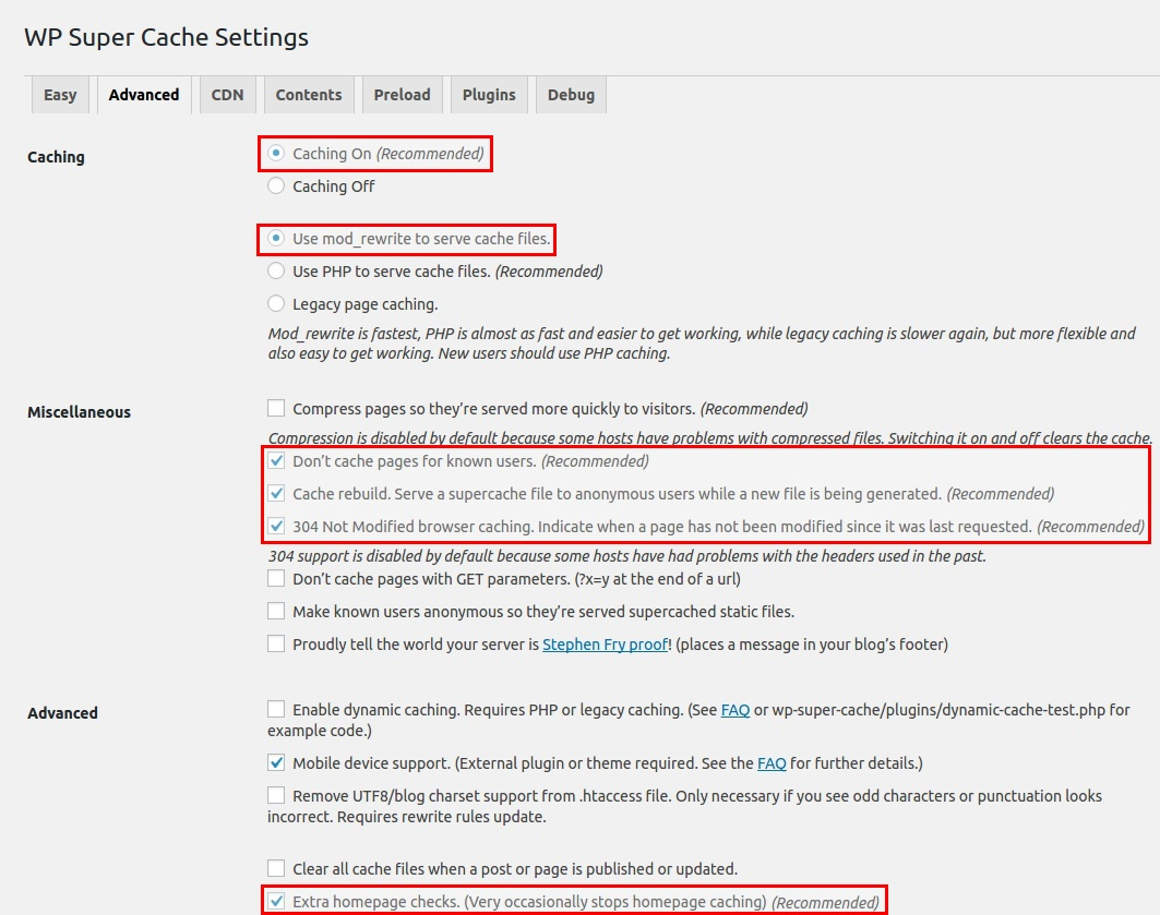 Site5 KnowledgeBase » WordPress: WP Super Cache Plugin